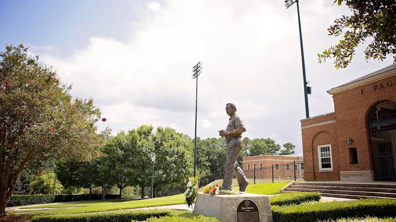 Bobby Bowden lied in repose at Samford University