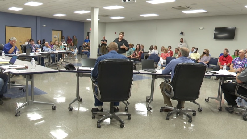 On Monday night Daphine Hamm spoke in front of the Houston County board and a crowd at the...