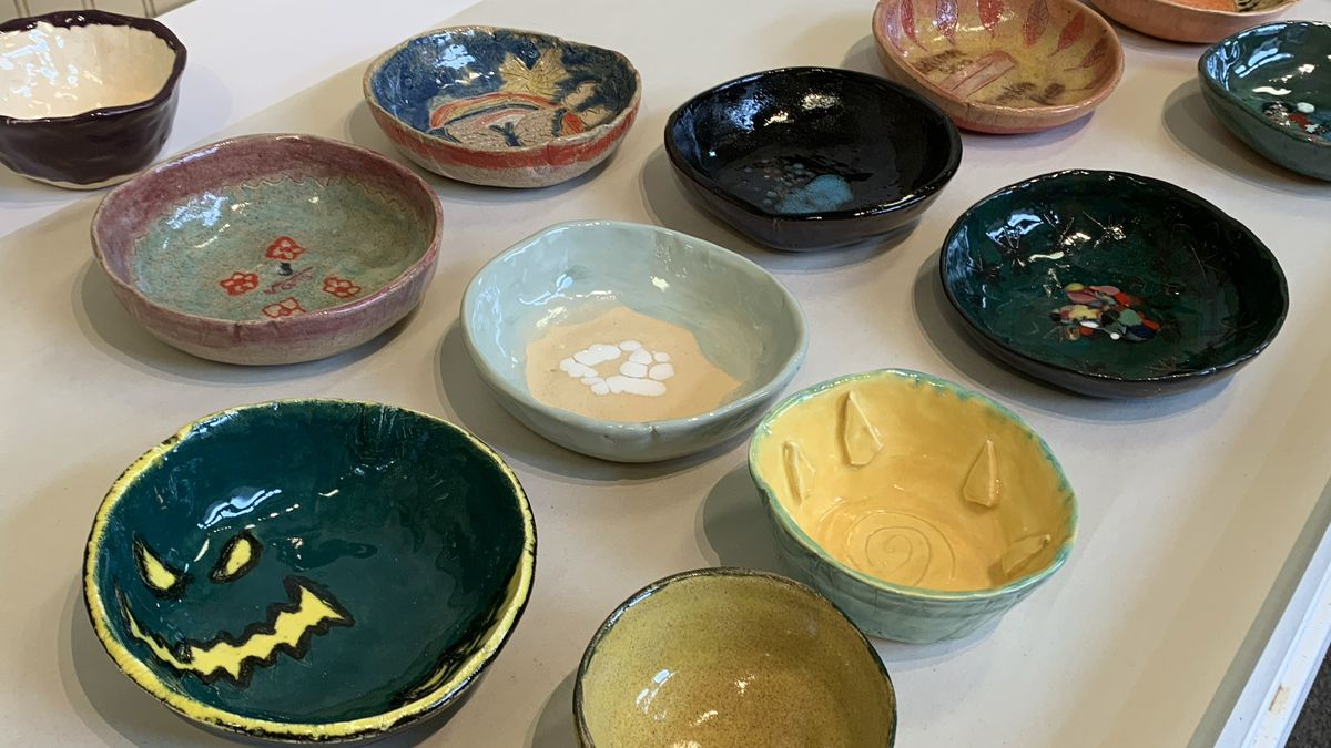 Bowls from the Empty Bowls Dothan event