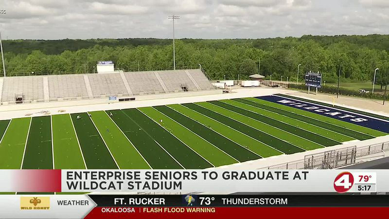 Artificial turf is almost complete at Enterprise High School