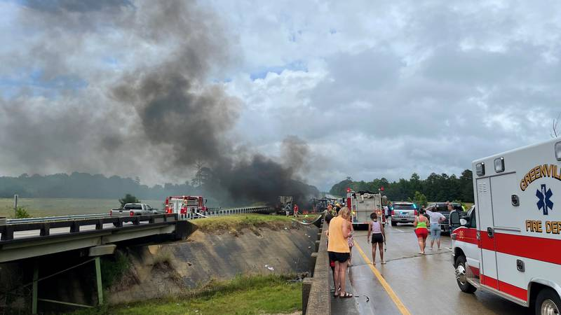 Viewer photo from the deadly crash on Interstate 65 near Greenville that happened on June 19,...