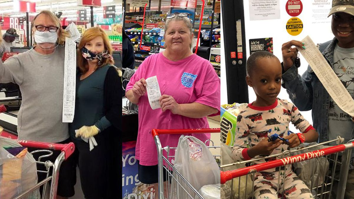 Tyler Perry surprised Winn Dixie shoppers across Louisiana by paying for their groceries on...