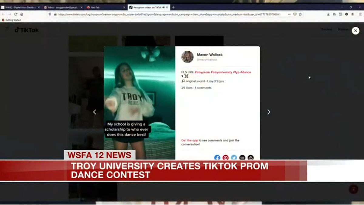 Troy University creates TikTok prom dance contest (Source: WSFA)