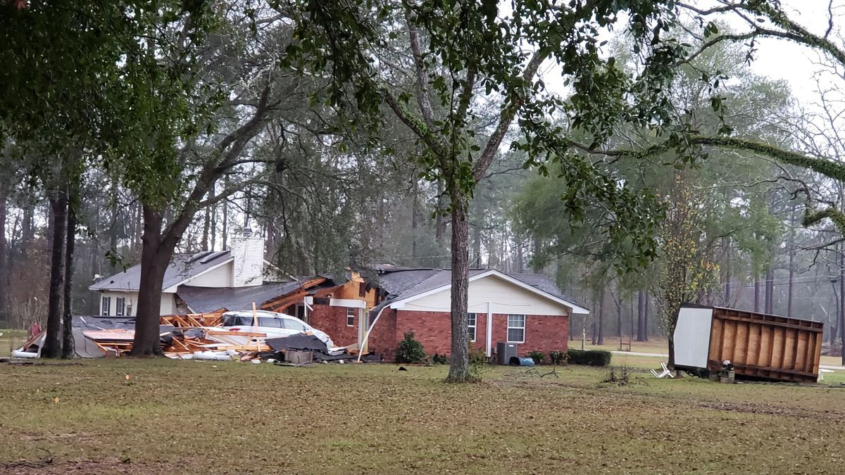 A home in southern Houston County is damaged in a severe storm, and possible tornado, on  December 17, 2019. (Source: RSN)