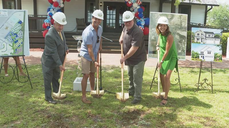 A new housing development in Freeport broke ground Thursday.