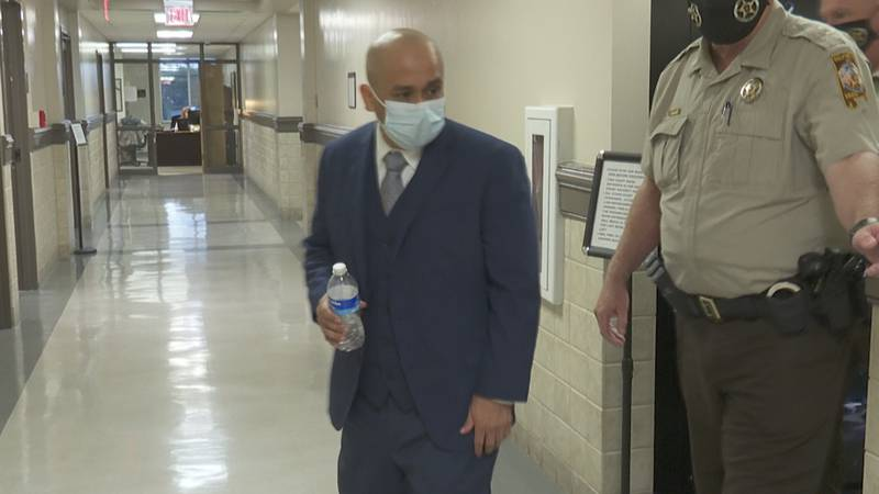 Emiliano Rodriguez leaves a Houston County courtroom after a jury found him guilty of second...
