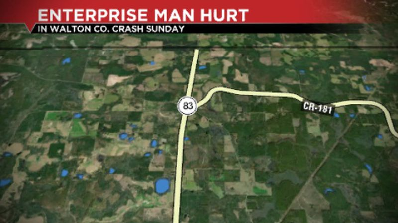 One Alabama man is injured after crashing his motorcycle in Walton County Sunday evening.
