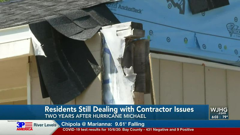 We talk with a family living in a trailer after a contractor took their money without repairing...