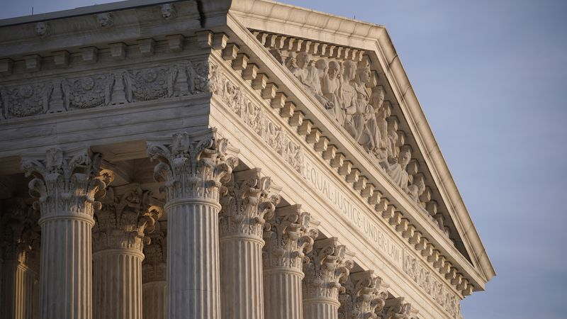 FILE - In this Nov. 5, 2020, file photo the Supreme Court is seen in Washington.