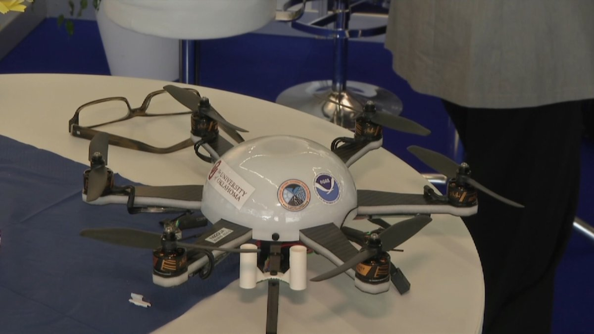 The Swiss-based Meteomatics presented a meteo-drone, a flying device equipped with weather...