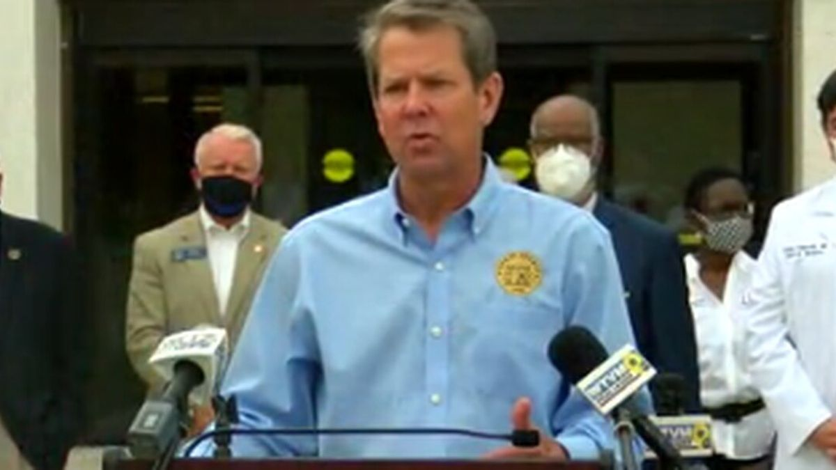 Governor Brian Kemp makes stop in Columbus for 'Wear a Mask' tour