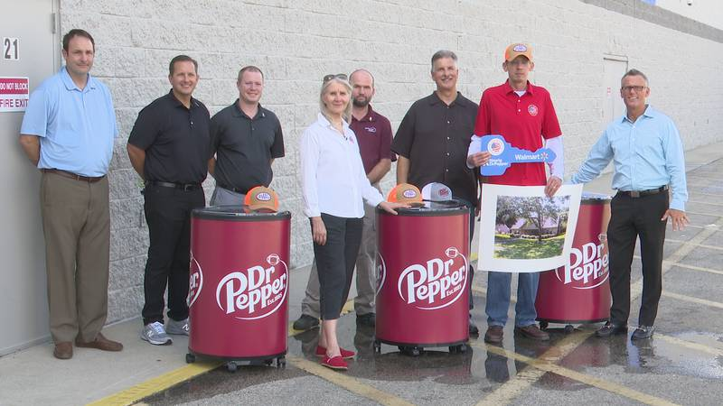 Members of Military Warrior Support Foundation, Keurig Dr. Pepper and Walmart traveled from all...
