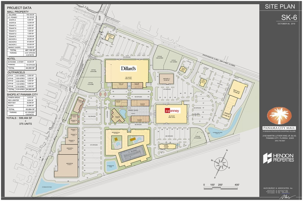 Hendon Properties have posted this mixed use plan to its website as a proposal for next steps in developing the Panama City Mall.