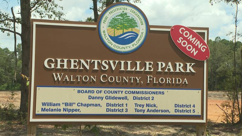 Several public officials gathered for the groundbreaking of Ghentsville Park, the first county...