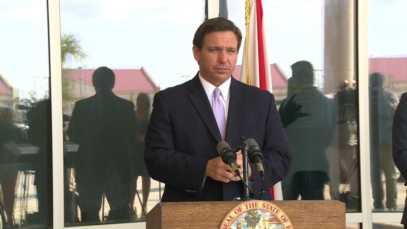 On Tuesday, Governor Ron DeSantis made an appearance at the Bay County Government Center with...