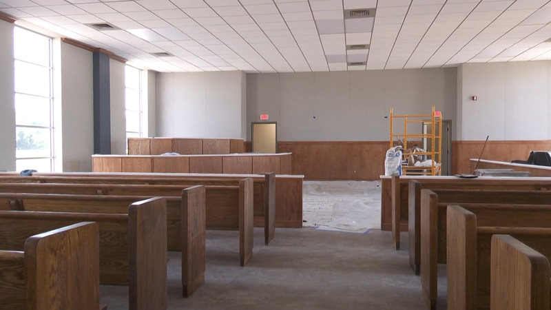 The courtroom renovation is expected to be complete in the coming weeks.
