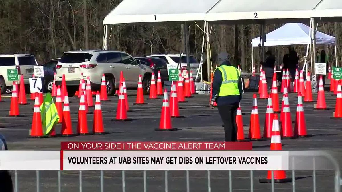 Volunteers at UAB sites may get dibs on leftover vaccines