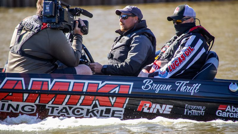 Pro Bryan Thrift of Shelby, North Carolina, weighed in 15 bass totaling 50 pounds, 4 ounces...