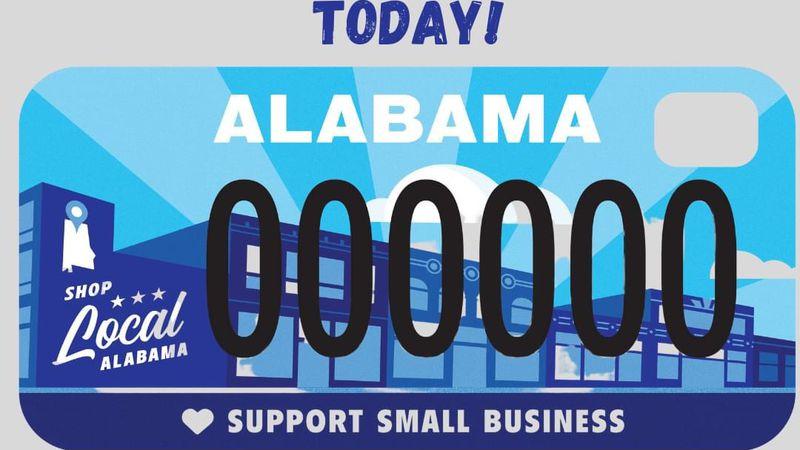 Shop Local Alabama license plate tag