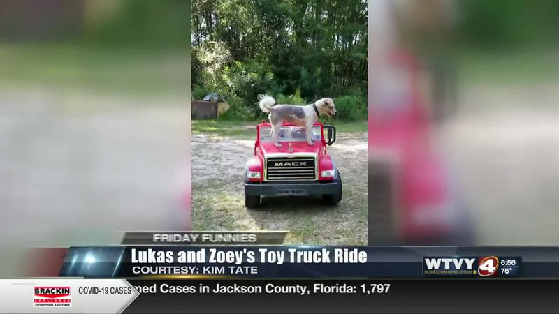 Friday Funnies: Zoey and Lukas's Joy Ride