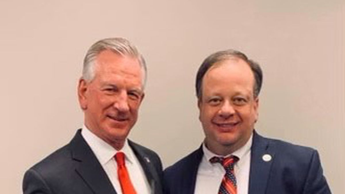 Tommy Tuberville (L) and Dothan City Commissioner John Ferguson in this undated photo.
