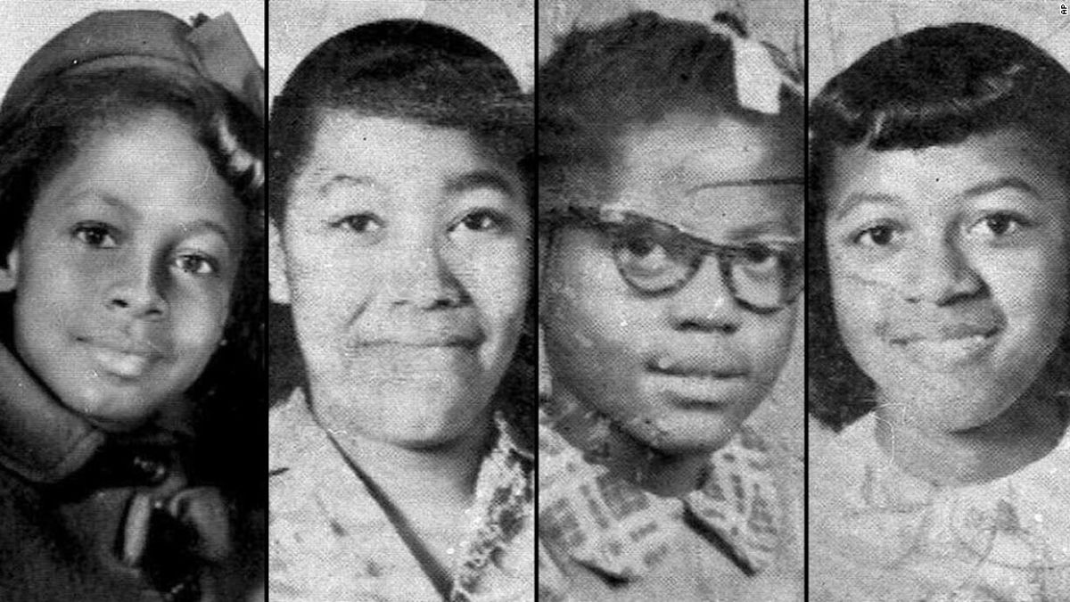 Denise McNair, 11; Carole Robertson, 14; Addie Mae Collins, 14;  and Cynthia Wesley, 14; from left, are shown in these 1963 photos.  (AP Photo)