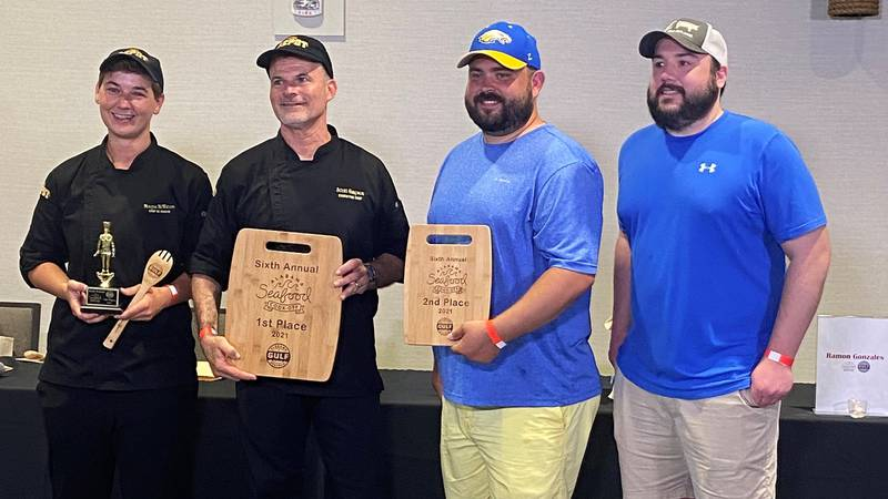 Scott Simpson of the Depot, located in Auburn, won the 2021 Alabama Seafood Cook-Off.