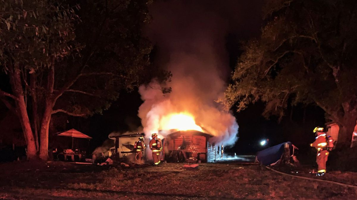 Firefighters say they found one person dead after a residential fire on Kylea Laird Road in...