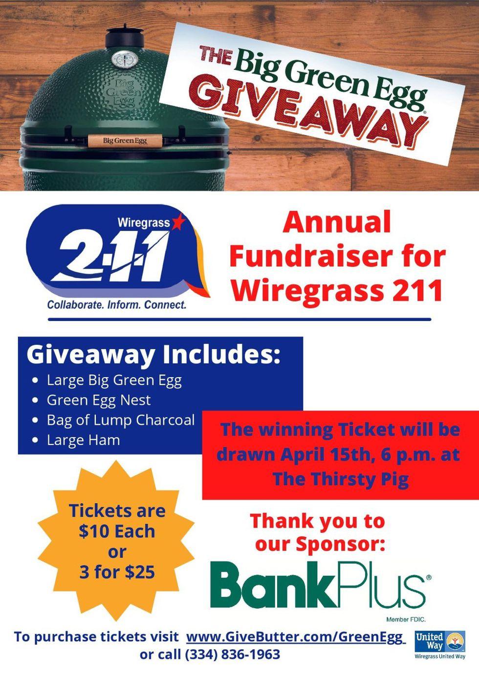 Wiregrass 2-1-1 10th annual 'Big Green Egg' fundraiser