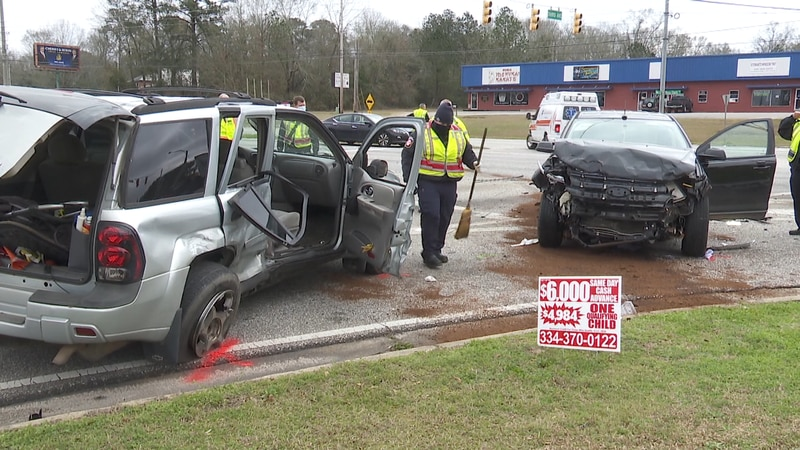 One passenger ejected from vehicle in three car accident.