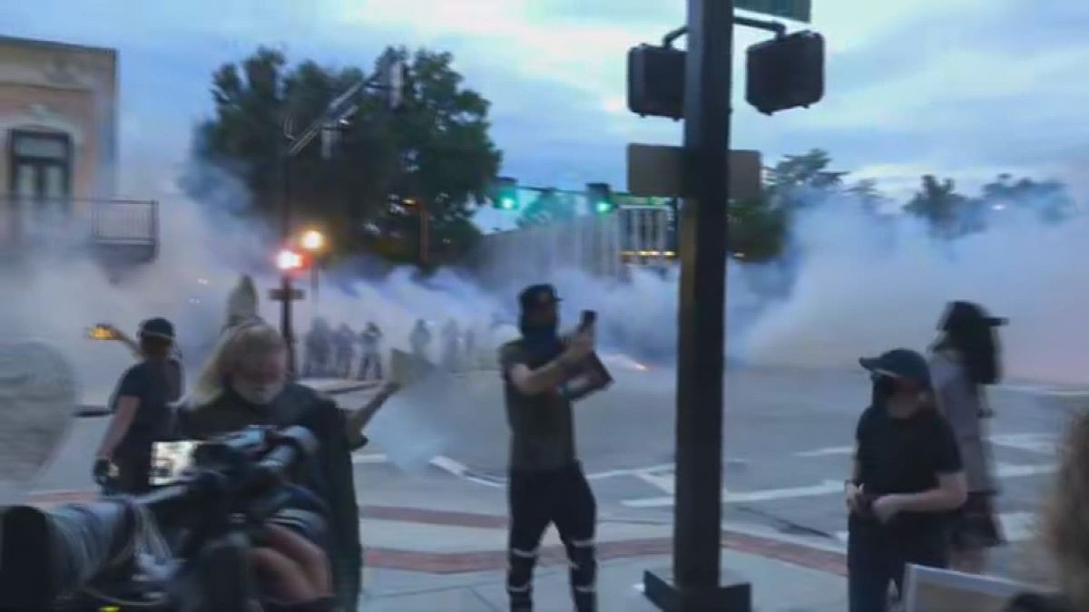 Police deployed riot gas when the crowd wouldn't disperse at a protest at Big Spring Park in huntsville, Ala. Wednesday, June 3, 2020. (Source: WAFF)