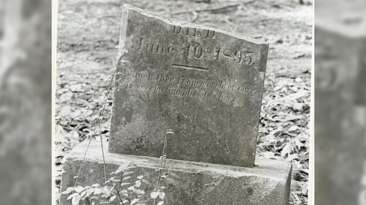 These headstones are among those relocated to the UMMC Cemetery in 1992. The photos were...