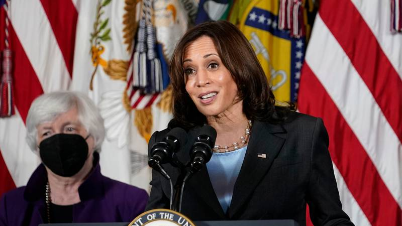 Vice President Kamala Harris appeared three times on the ABC talk show — all remotely due to...