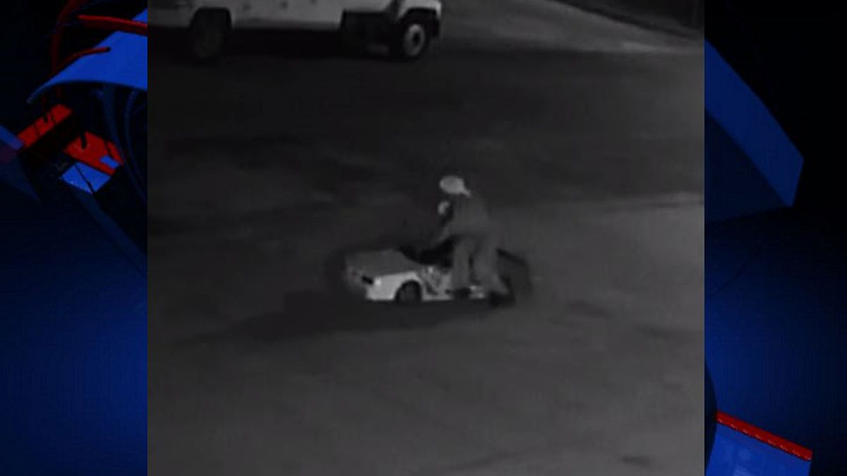 The Marianna Police Department says it is looking for a go-kart thief. (Photo via MPD)