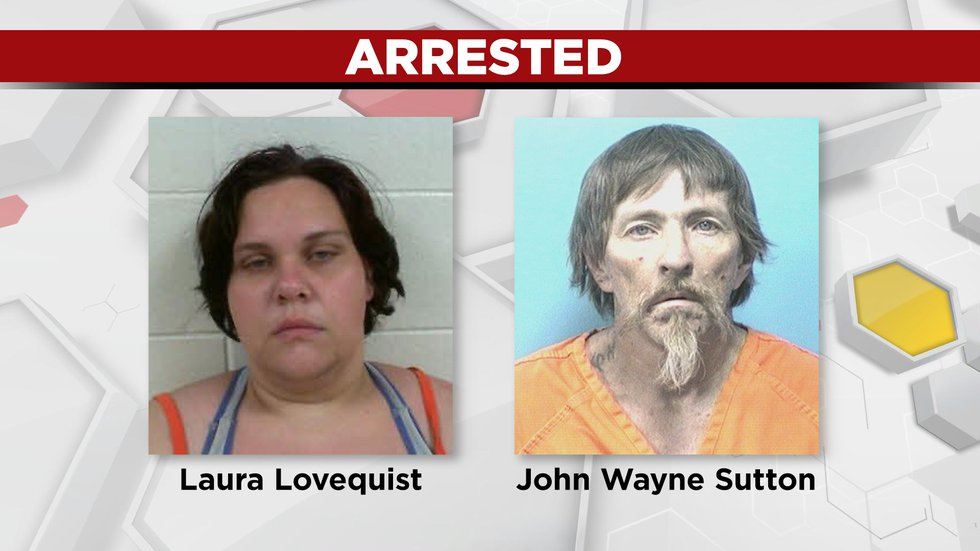 Laura Lovequist  and John Wayne Sutton have been arrested in connection to the death of Jenita...
