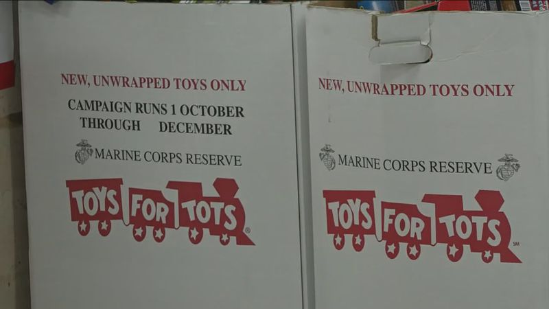 Food and toy drive for Toys for Tots.