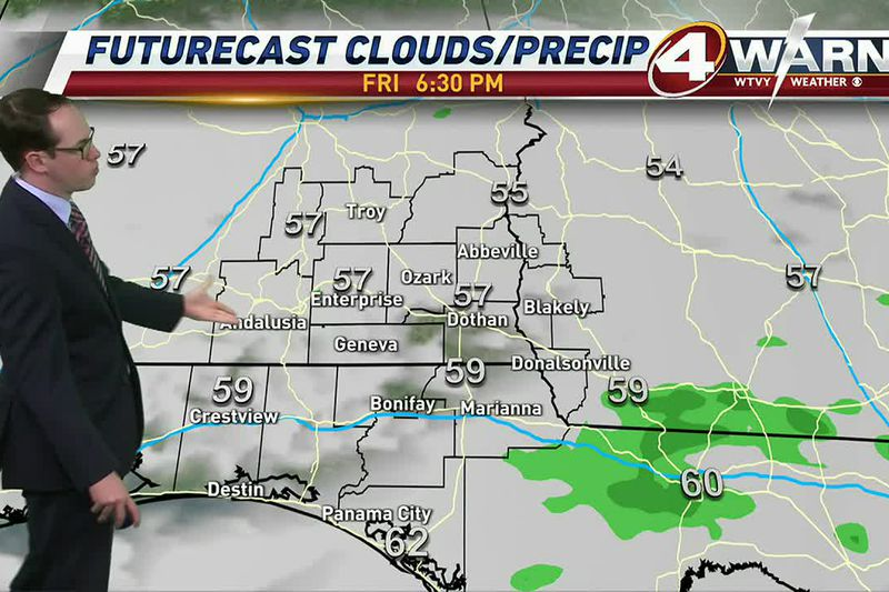 Plenty of rain is moving across the Wiregrass for our Friday morning.