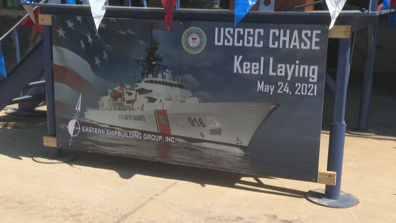 The birth to the second U.S. Coast Guard offshore patrol cutter in the new fleet of 25 to be...
