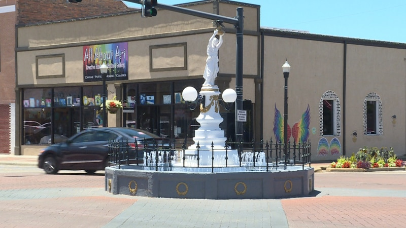 Boll Weevil monument in Downtown Enterprise