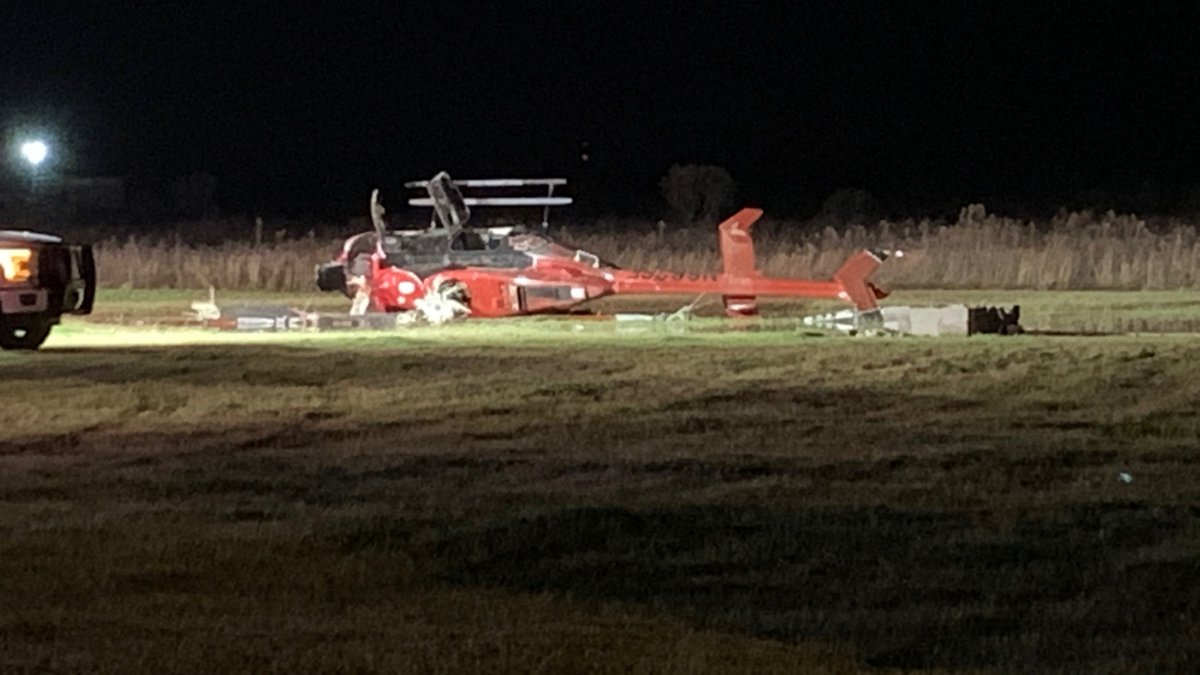 Survival Flight helicopter crashes at Headland, AL airport on December 25, 2019.