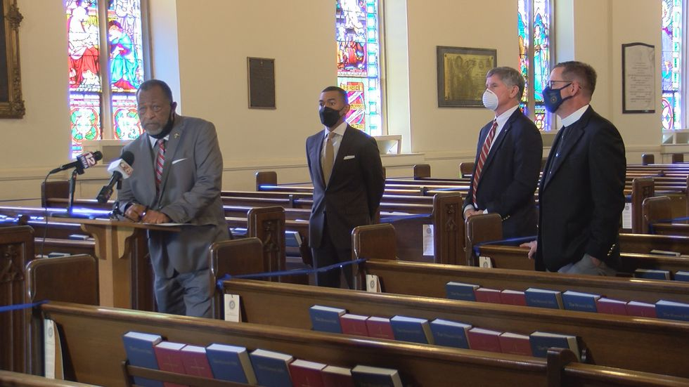 Three of the area's top elected officials come together, the day before Good Friday, to mourn...