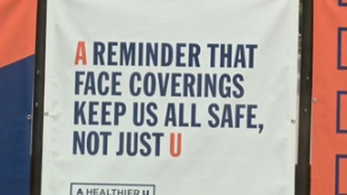 A new rule across Auburn University's campus requires students, staff, and visitors to wear masks everywhere, including outdoors.