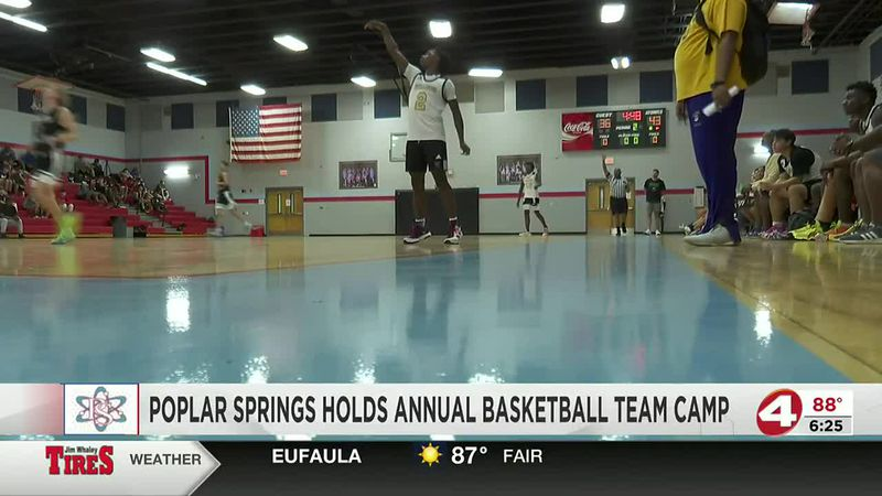 Poplar Springs hosts annual basketball team camp