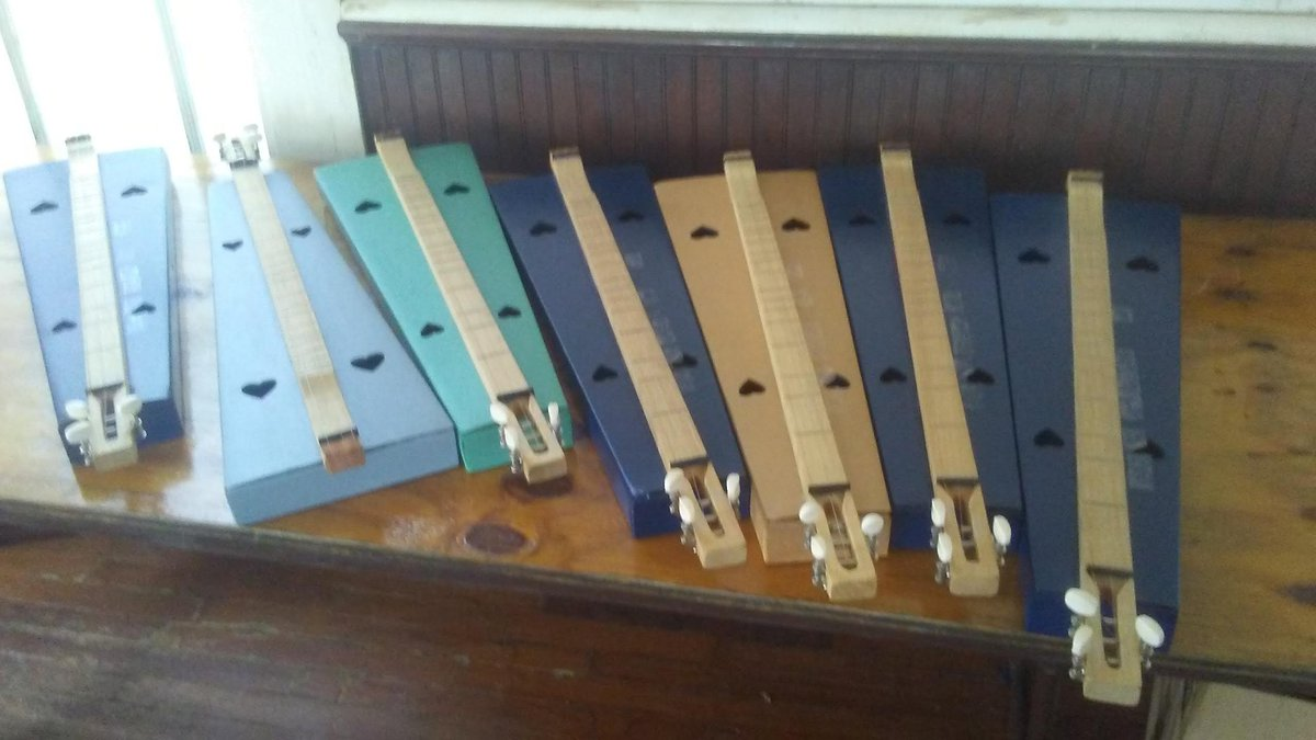 Some of the dulcimers that the students played during the Music of the Wiregrass program.