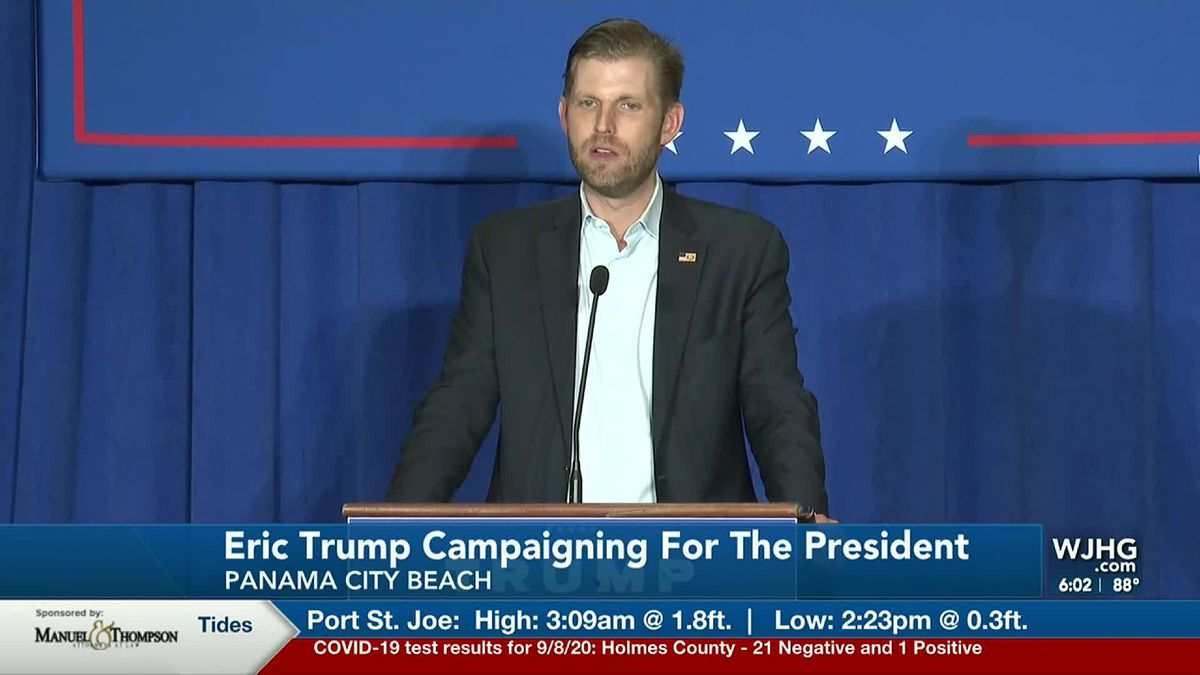 Eric Trump is making a campaign stop for his father in Panama City.