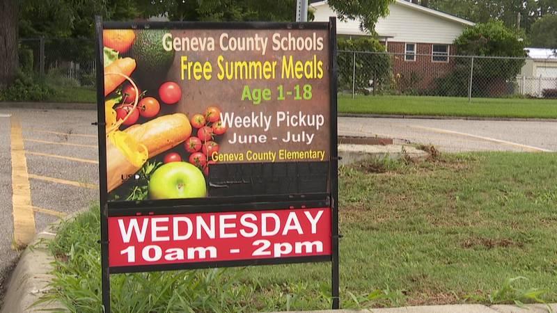 Geneva County Schools Child Nutrition Program are feeding roughly 300 kids each Wednesday....