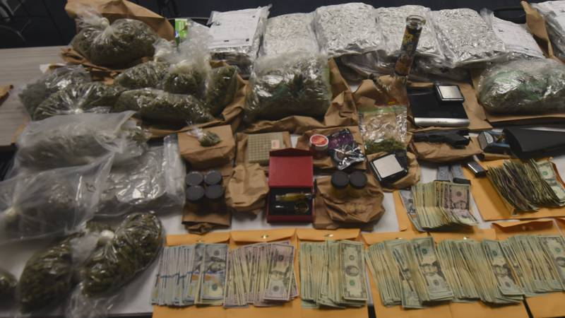 Ervin says after they searched the home, they found 28 pounds of Marijuana, more than $13,000...