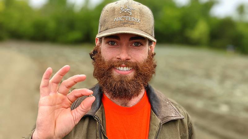 Christian Liden, 26 of Poulsbo, Wash., found a 2.20-carat diamond during a mining excursion to...