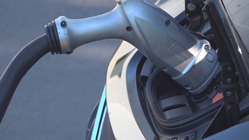 """Charging the Nissan Leaf using this """"level three"""" charger can take under an hour to get a..."""