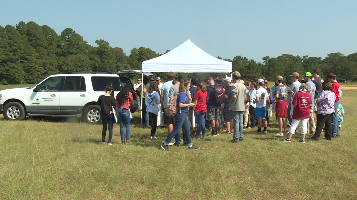 Agriculture students from around the Wiregrass learned around potential careers related to...